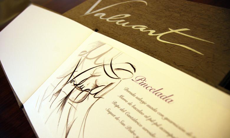 Diseño gráfico carta de restaurante en Barcelona, España.